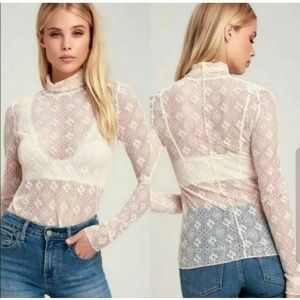 Free People: Lace Turtleneck